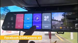 Bluavido 12 inch Android Mirror Das #360 #Kamera #Mağazası - YouTube