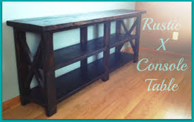 Rustic X Console Table YouTube