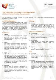 Personal Information Sheets Ipp Fact Sheet Jpg Jpg Information And Privacy Commission New