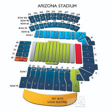 Arizona Stadium Seating Chart University Of Arizona Stadium Map Cinemergente