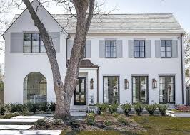 White Painted Brick White Brick Painted Home With Dove Gray Shutters White  Painted Brick Ranch House