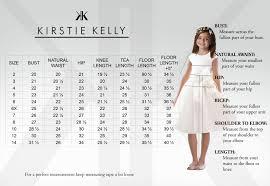 4 Year Girl Dress Size Chart Flower Girl Size Chart Kirstie Kelly