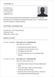 Free Easy Resume Template Inspiration Easy Resume Templates Goalgoodwinmetalsco