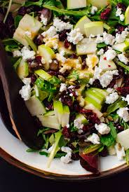 simple mixed green salad. Brilliant Simple Simple Green Salad With Apple Pepitas Cranberries And Goat Cheese To Mixed Green Salad