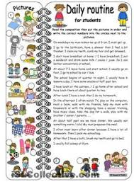 daily kids pages daily routines short essay ajuda na  here you can a composition about a student´s daily routine on weekdays