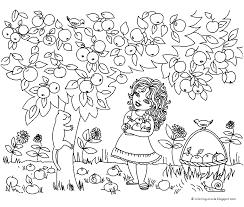 Jaargetijden Zomer Kleurplaten Appelboom