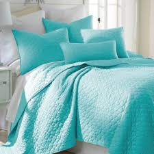 Buy Teal Quilt Bedding Twin from Bed Bath & Beyond & Levtex Home Salerno Full/Queen Quilt Set in Teal Adamdwight.com
