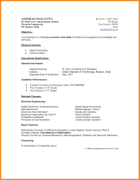 Academic Resume Template Word Best Sample Template Undergraduate
