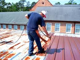 painting metal roof cost roofs rust per square foot techbrainiac info