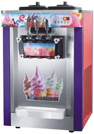 counter top three color ice cream machine pro cooling system china