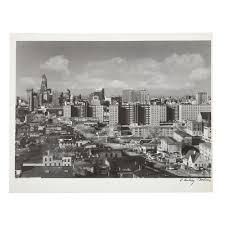 """A. Aubrey Bodine. """"Baltimore Skyline, 1955,"""" Photo sold at auction on 25th  July 
