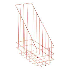 Copper Magazine Holder Copper Wire Magazine Holder The Container Store 2