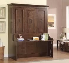 murphy bed desk. Natanielle Queen Murphy Bed With Desk | Walnut
