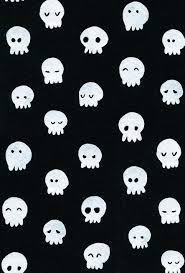 skull wallpaper and black and white image