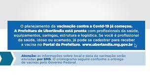 Cadastro para vacinação - Portal da Prefeitura de Uberlândia