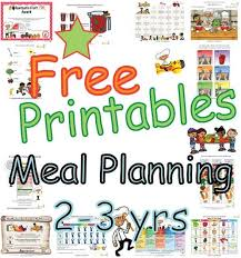 Food Group Based Meal Plans - Children 2 To 3 Years