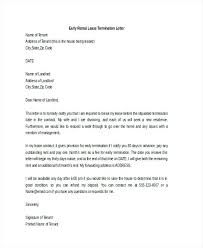 Rental Lease Letters Notification Of Termination Of Lease Termination Of Lease Agreement