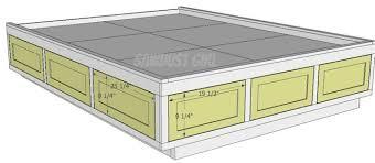 storage bed plans. Queen Size Platform Storage Bed Plans With F