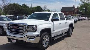 white gmc trucks. Brilliant Gmc 2016 GMC Sierra 1500 SLT Z71 Crew Cab 4WD White Oshawa On Stock160829   YouTube To Gmc Trucks