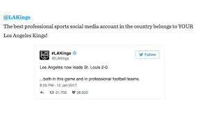 list of sports teams one sports team on la magazines top 50 twitter list