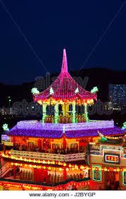 fantastic lighting. the fantastic lighting of kek lok si temple in penang, malaysia - stock photo s