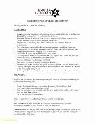 Free Resume Builder Fresh Sous Chef Resume Skills Aurelianmg