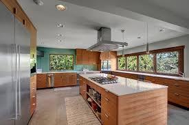 Modern kitchen island Ultra Modern Modern Kitchen Design With Arctic White Quartz Counters Decoist 57 Luxury Kitchen Island Designs pictures Designing Idea
