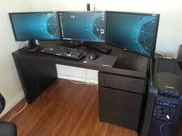 Triple Computer Gaming Monitor  Furniture:Custom ...