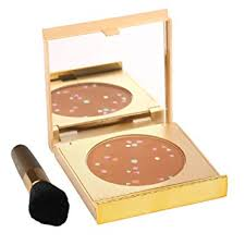 magicminerals gold edition by jerome alexander mineral powder pact with mirror blending sponge and