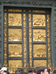 italy florence gold door carved