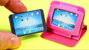 DIY Miniature Tablet / iPad + 2 Cases - YouTube