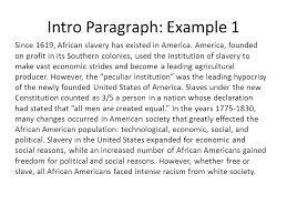 essays on african american slavery essay on slavery novelguide