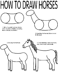 How To Draw Horses Coloring Page Crayolacom