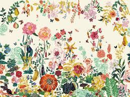 Floral Pattern Wallpaper Unique Decoration