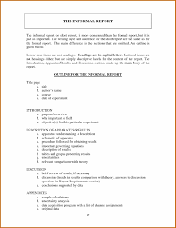 Sample Formal Report Example Of Formal Report Writing Format Violettagyra