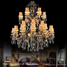 chandeliers large foyers beautiful fashion big crystal chandelier lighting fixture antique brass color