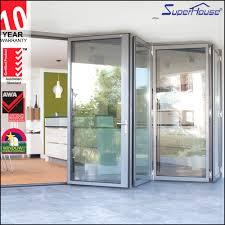 Aluminum Doors Unique toughened Glass Interior Aluminium Bifold ...
