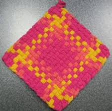 Potholder Loom Patterns Gorgeous Potholder Loom Patterns And Yellow Check Color Block Pattern Woven