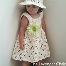 Toddler Dress Patterns Beauteous Vintage Toddler Dress Crochet Pattern The Lavender Chair