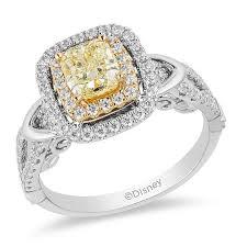 Yellow Diamond Vs White Diamond Enchanted Disney Belle Special Edition 1 1 5 Ct T W Yellow