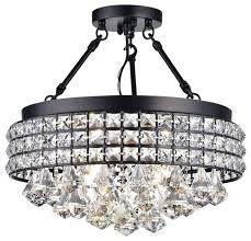 semi flush mount ceiling light crystal the 5 light crystal ceiling light by lighting is crystal semi flush mount ceiling