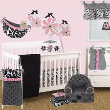 girly 3pc crib bedding set