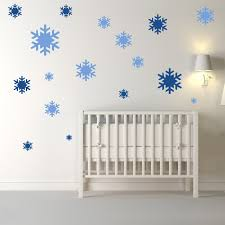 snowflake wall sticker pack festive wall decal kids home decor