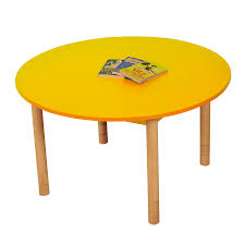 height adjule round wooden classroom tables small