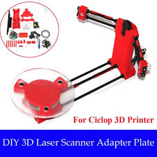 3d scanner diy kit open source object scaning for ciclop printer scan red lu