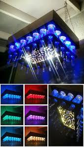 aluminum copper colored beer bottle led light chandelier diy cool beer bottle crafts for men