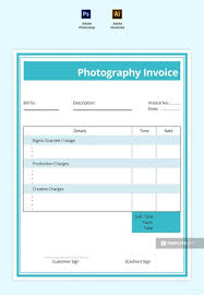 Free Commercial Photography Invoice Template In Adobe Photoshop ...