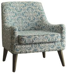 Blue Pattern Accent Chair Custom Blue Pattern Accent Chair Blue Pattern Accent Chair