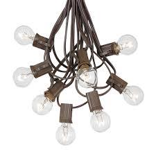 outdoor novelty string lights elegant 100 clear g30 globe round outdoor string light set on