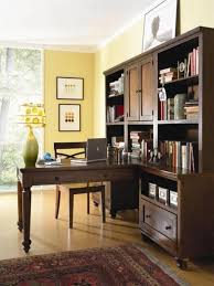 home office shared desk idea modern. Perfect Shared Modern Traditional Home Workspace Integrated Bookcase With Desk For Two  People Shared Its Classic Wooden Book Cabinet Design Ideas  Intended Office Idea